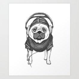 DJ Pug Art Print