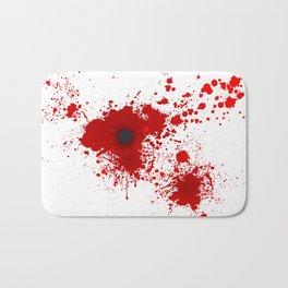 Bloody Bullet Wound Bath Mat
