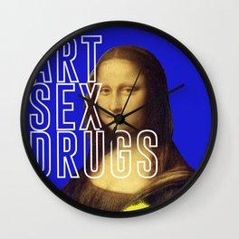 ART SEX DRUGS Wall Clock