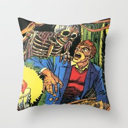 Horror in the Dark - the Pre-Code Collection Throw Pillow