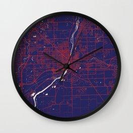 Joliet, IL, USA, Blue, White, City, Map Wall Clock