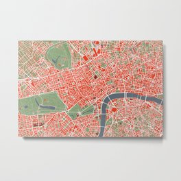 London city map classic Metal Print