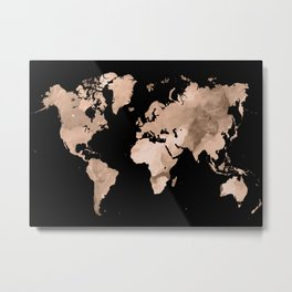 Design 97 world map Metal Print