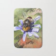 Bee on flower 18 Bath Mat
