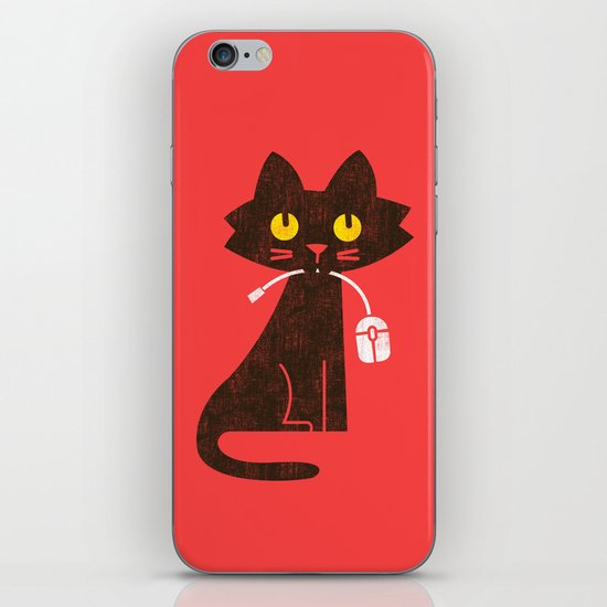Fitz - Hungry hungry cat (and unfortunate mouse) iPhone & iPod Skin