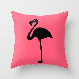 Angry Animals: Flamingo Throw Pillow
