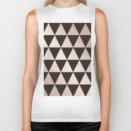 triangle pattern, rose gold and black Biker Tank