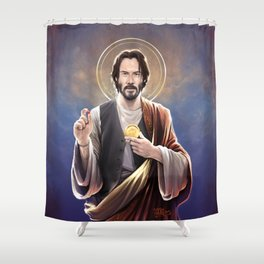 Saint Keanu of Reeves Shower Curtain