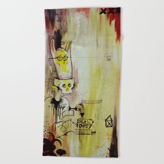Deathy By Fresh Toast Beach Towel