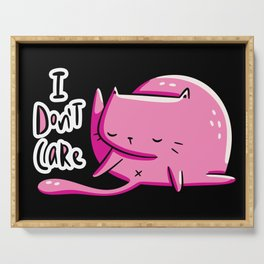 Don't Care Cat Serving Tray
