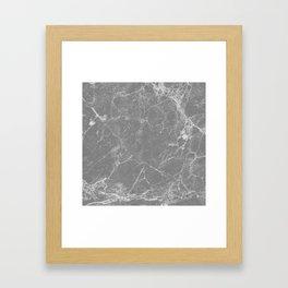 Grey Marble Framed Art Print