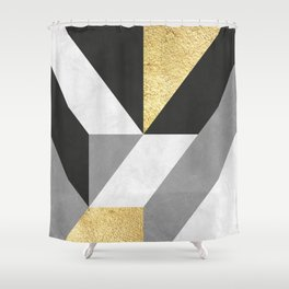 Gold collage XI Shower Curtain