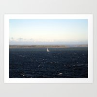 sailing Art Prints featuring sailing. by zenitt