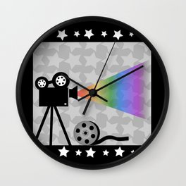 Old movies nostalgia Wall Clock