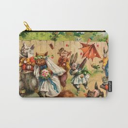 The Happy Pair Cats & Animal Parade Carry-All Pouch