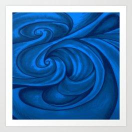 swirl (dark blue) Art Print
