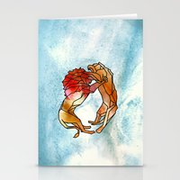 lions Stationery Cards featuring Lions by madbiffymorghulis