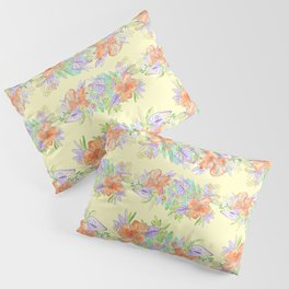 hawaiian tropical flowers yellow Pillow Sham