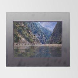 Manas River - Bhutan Throw Blanket