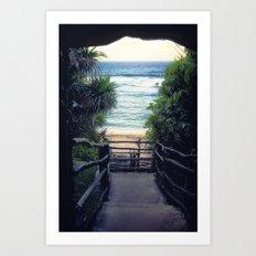 Oholei beach Art Print