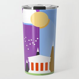 Landscape - sun and rain - Material Design  Travel Mug