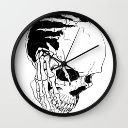 Skull #7 (Creeping Hands) Wall Clock