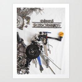 052: Edward Scissorhands - 100 Hoopties Art Print