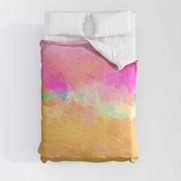 Modern Pastel Rainbow Cascade  Comforters