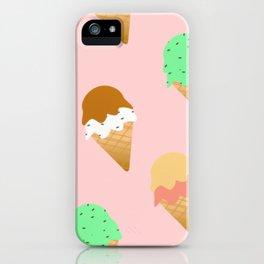 Cute Ice Cream on Pink iPhone Case