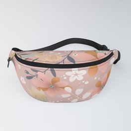 Peachy Flowers Fanny Pack