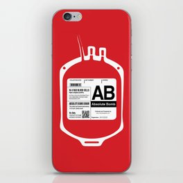 My Blood Type is AB, for Absolute Bomb! iPhone Skin