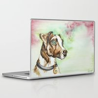 jack russell Laptop & iPad Skins featuring Jack Russell Terrier by lauramaahs