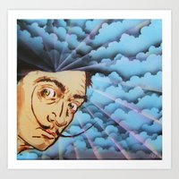 dali Art Prints featuring Dali by Kevin Rogerson