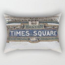 Times Square Subway New York, Tile Mosaic Sign Rectangular Pillow
