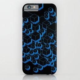 3D Futuristic Cubes iPhone Case