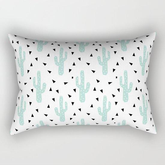 Cactus - modern minimal pattern print triangles geometric trendy hipster coachella festival  Rectangular Pillow