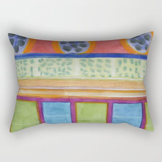 Paw Prints on the Wall Rectangular Pillow
