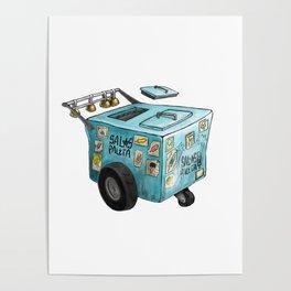 Paletero Ice Cream Cart Poster