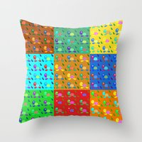 turtles Throw Pillows featuring turtles by vitamin
