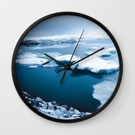 Iceland - Floating Icebergs Wall Clock