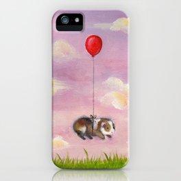 Balloon Ride - Guinea Pig With Balloon iPhone Case