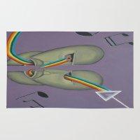 floyd Area & Throw Rugs featuring Pink Floyd by ArtSchool
