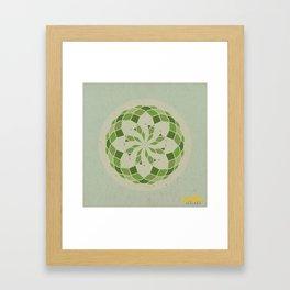 Heart Chakra Mandala Framed Art Print