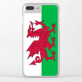 Flag of Wales - Hi Quality Authentic version Clear iPhone Case