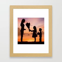 Mother's Day T-Shirt Framed Art Print