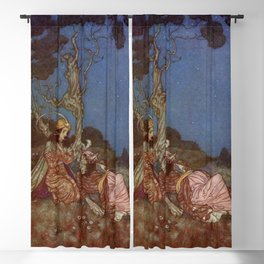 Yes I will Marry You Beauty and the Beast By Edmund Dulac Blackout Curtain