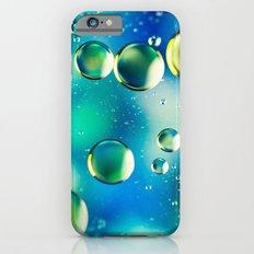 Macro Water Droplets  Aquamarine Soft Green Citron Lemon Yellow and Blue jewel tones iPhone 6s Slim Case
