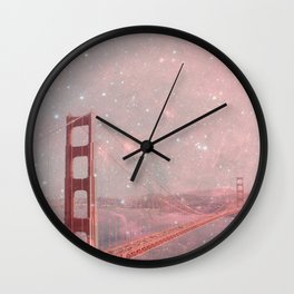 Stardust Covering San Francisco Wall Clock