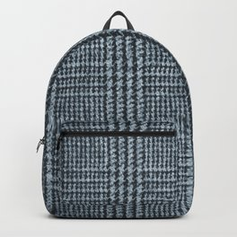Blue tinted classical plaid pattern Backpack