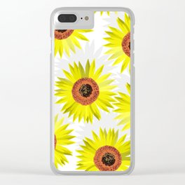 Sunflowers wb Clear iPhone Case